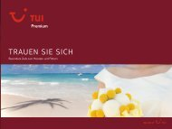 TUI - Premium: Honeymoon - Sommer 2011 - No Limit Holidays