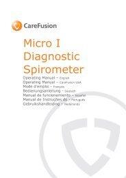 Micro I Operating Manua1 - part 1 - CareFusion
