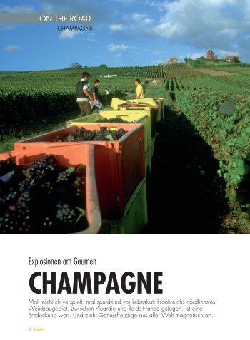 Explosionen am Gaumen - Champagne