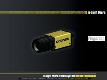 In-Sight Micro Vision System Installation Manual - finger gmbh & co. kg