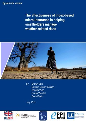 The effectiveness of index-based micro-insurance in helping ... - DfID