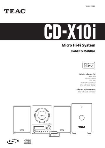 micro hi-fi system owner u0026 39 s manual cd-x10i