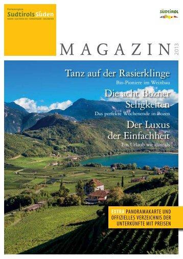 MAGAZIN - Südtirols Süden
