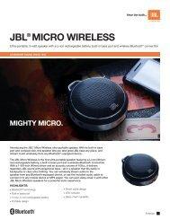 JBL® Micro WireLess - JBL.com