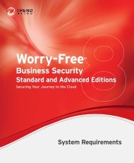Trend Micro Worry-Free Business Security 8.0 System Requirements