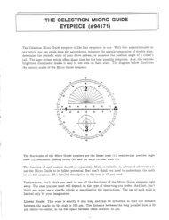 Micro Guide Eyepiece Instructions - Celestron