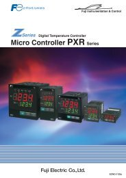 Micro Controller PXR Series - Fuji Electric America