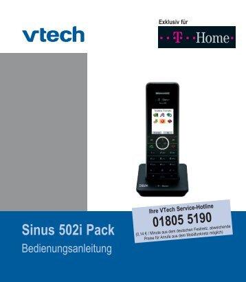 Bedienungsanleitung Sinus 502i Pack. Stand - Hilfe & Service ...