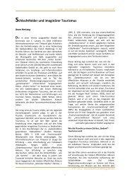 Schlachtfelder und imaginärer Tourismus - Site de la revue