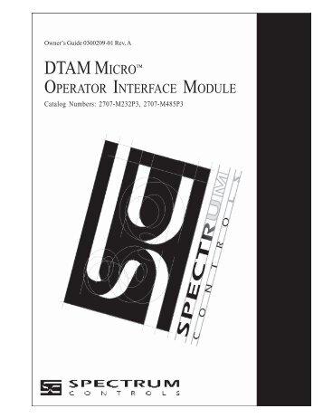 2707-UM002C-EN-P, DTAM Micro Operator Interface - Spectrum ...
