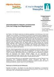 Info - Pat und HA - St.-Marien-Stift Friesoythe