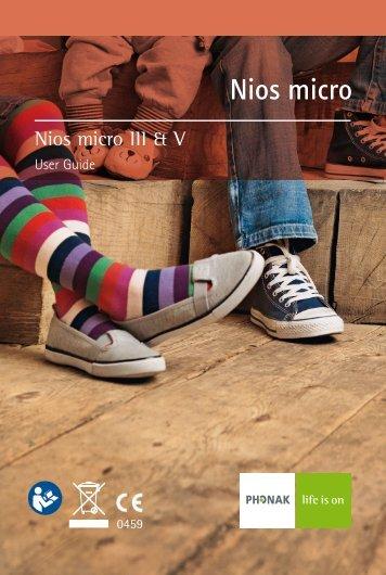 User Manual Nios micro III & V - Phonak