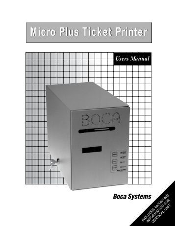 Boca ticket Printer manual