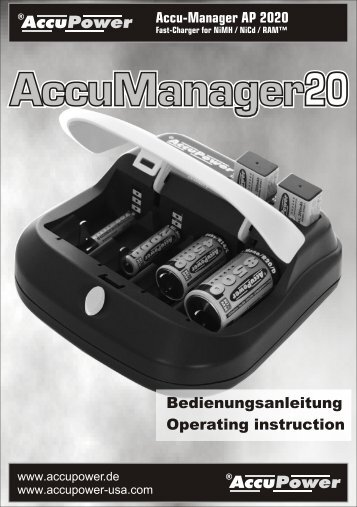 AccuPower AccuManager20 AP2020 Manual