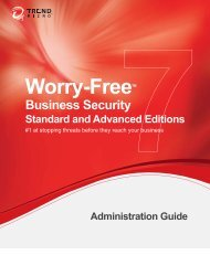 Trend Micro™ Worry-Free™ Business Security Administration Guide