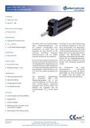 Servotube Motor Komponenten 11xx Datenblatt - Maccon.de