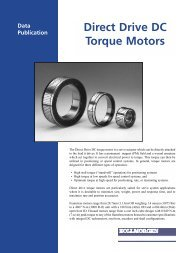 Direct Drive DC Torque Motors - Kollmorgen