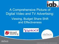 A Comprehensive Picture of Digital Video and TV Advertising: