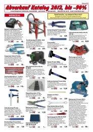 Abverkauf Katalog 2012, bis -90% - Faie Newsletter system