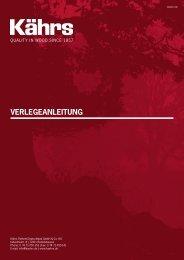 Kährs Verlegeanleitung - koncepta GmbH & Co.KG