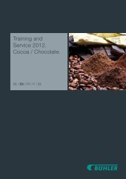 Training and Service 2012. Cocoa / Chocolate.