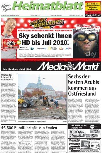 Sky schenkt Ihnen HD bis Juli 2010.* - E-Paper - Emder Zeitung