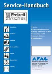 Servicehandbuch (Download pdf ) - Freizeit Messe Nürnberg