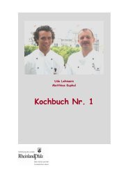 Kochbuch Nr. 1 - Vertretung des Landes Rheinland-Pfalz