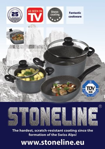Stoneline® with stainless steel handles