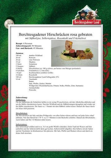 Berchtesgadener Hirschrücken rosa gebraten - Frischdienst