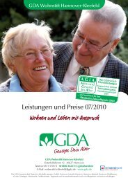 Leistungen und Preise 07/2010 - GDA Gemeinschaft Deutsche ...