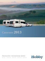 Preisliste 2013 - Hobby Caravan