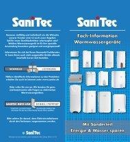 Durchlauferhitzer - SaniTec Produkthandel GmbH