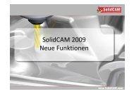 SolidCAM 2009 Neue Funktionen