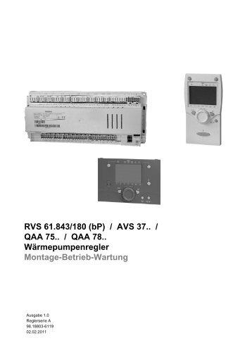 3.2 Wärmepumpenregler RVS 61.843