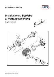 BL-71…200 Betriebsanleitung Bürstenlose DC-Motoren DE
