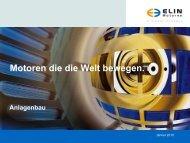 Motoren die die Welt bewegen. - ELIN Motoren GmbH