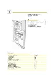 Kühl-Gefrier-Kombination HZI2026 - RFI4208W 137216 USP ...