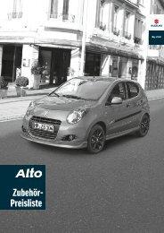 Zubehörpreisliste - Suzuki