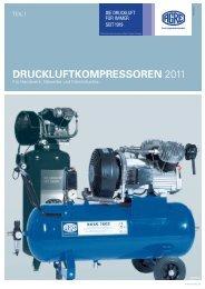 DRUCKLUFTKOMPRESSOREN 2011 - AGRE Kompressoren