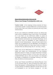 Wesco baut Design-Produktpalette weiter aus