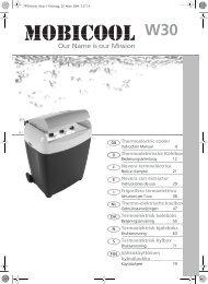 Thermoelectric cooler Thermoelektrische Kühlbox Nevera ... - Waeco