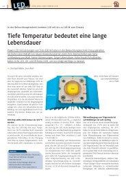 Tiefe Temperatur bedeutet eine lange Lebensdauer - Polyscope