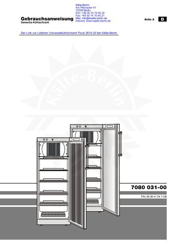 Liebherr Universalkühlschrank Fkvsl 3610-20