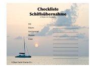 Checkliste Übergabe - Best Yacht Charter