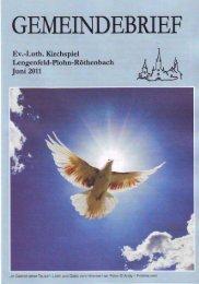 Gemeindebrief Juni 2011 - Kirchspiel Lengenfeld Plohn Röthenbach