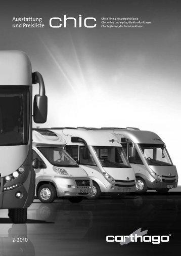 Ausstattung und Preisliste 2-2010 - Carthago Reisemobilbau GmbH