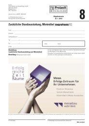 Formular 8 - Mietmobiliar Fa. Wörnlein - Freizeit Messe Nürnberg