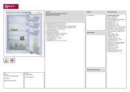 Neff K1515X7 KE 215A Einbau-Kühlschrank Vorgänger ... - Obi