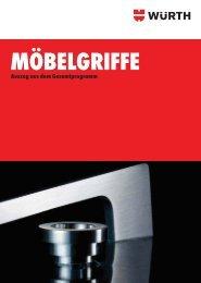 Möbelgriffe - Auszug aus dem Gesamtprogramm (PDF) - Würth